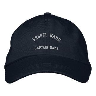 Marine de casquette brodée par navire de capitaine