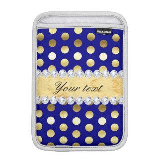 Marine-Goldfolien-Tupfen-Diamanten Sleeve Für iPad Mini