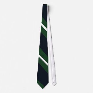 Marine-, Grün-und weißec$diagonal-gestreifte Individuelle Krawatten