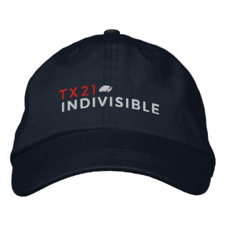 Marine-justierbare Kappe gestickt mit Logo