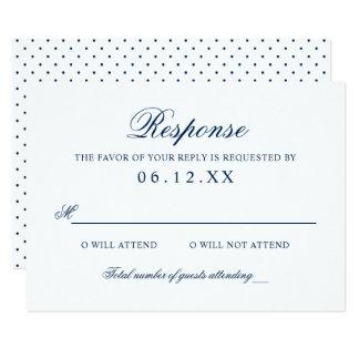Marine-Klassiker-Eleganz der 8,9 X 12,7 Cm Einladungskarte