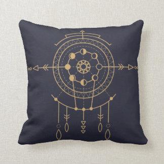 Marine-Mandala-mystisches geometrisches Kissen