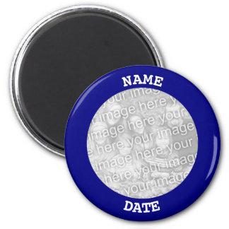 Marine-personalisierte runde Foto-Grenze Runder Magnet 5,7 Cm