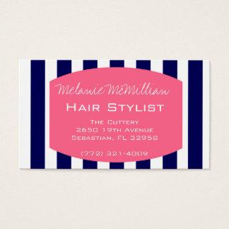Marine-Rosa der Haar-Stylist-Termin-Karten-| Visitenkarten