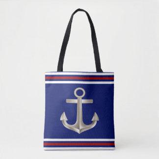 Marine-Rot-Anker Tasche