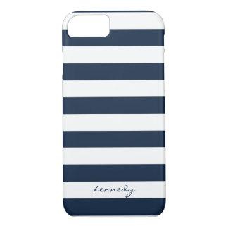 Marine Stripes Muster personalisierten iPhone 7 iPhone 7 Hülle