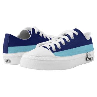 Marine-und Himmel-Blau Zwei-Ton Lo-Spitze Niedrig-geschnittene Sneaker