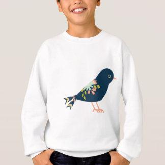 Marine und korallenroter Boho Stammes- Vogel Sweatshirt