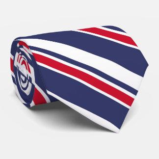 Marine und rote Seestreifen Personalisierte Krawatte