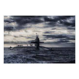 Marine-Unterseeboot Poster
