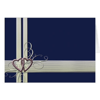 Marineblau-Herzentwurf Grußkarte
