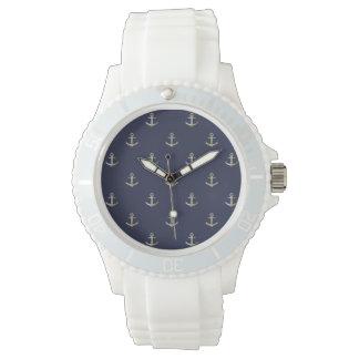 Marineblau-Seeanker Uhr