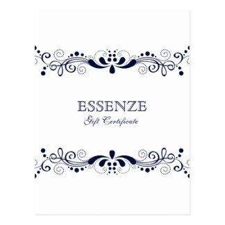 Marineblau u. weißer postkarte