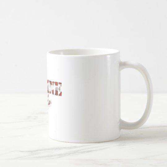 MarineEhefrau-amerikanische Flagge Kaffeetasse