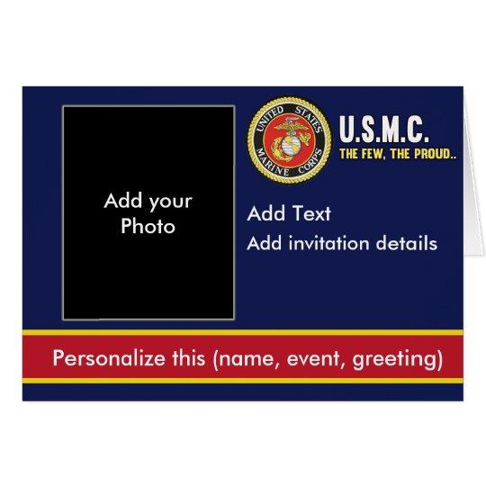 Marineinfanteriekorps-Einladung Grußkarte