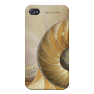 MarineNautilusseashell-Makro iPhone 4 Case