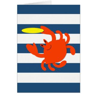 Marineseefrisbee-Krabben-Anmerkungs-Karte Mitteilungskarte