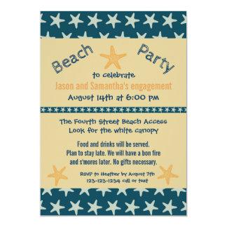 Marinestarfish-Strand - Verlobungs-Party laden ein 12,7 X 17,8 Cm Einladungskarte