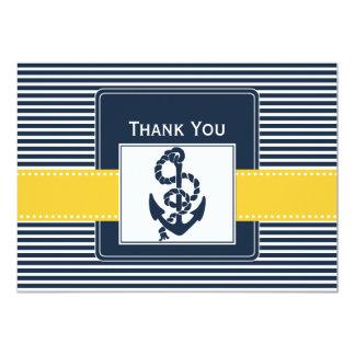 Marinestreifen, Anker, Seehochzeit danken Ihnen Personalisierte Einladungskarten