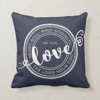 Markieren Sie 12:30 Liebe der Lord Your God Pillow Kissen