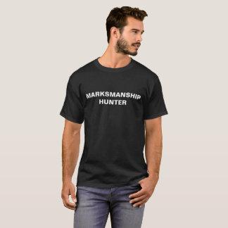Marksmanship-Jägerschwarz-T - Shirt mit weißem