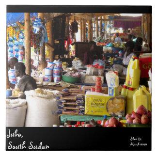 Markt in Juba, Südsudan Keramikfliese