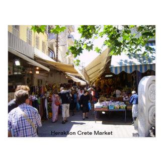 Markt Iraklios Kreta Postkarte