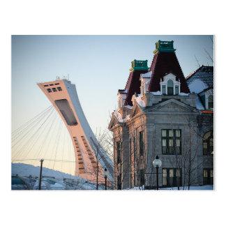 Markt Maisonneuve und olympische Stufe Postkarte
