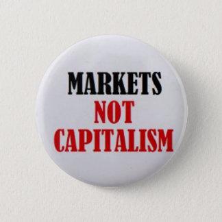 Markt-nicht Kapitalismus Runder Button 5,1 Cm