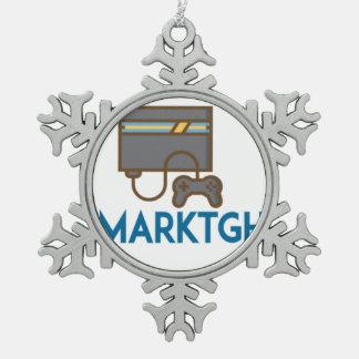MarkTGH Schneeflocke-Verzierung Schneeflocken Zinn-Ornament