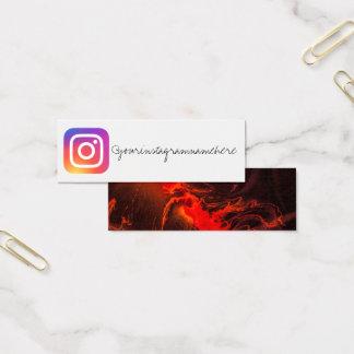 Marmorinstagram Sozialmedium-Visitenkarte Mini Visitenkarte