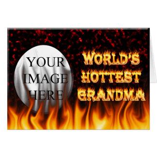 Marmorn heißestes Großmutterfeuer der Welt und Karte