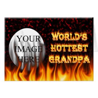 Marmorn heißestes Großvaterfeuer der Welt und Karte