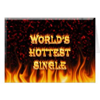 Marmorn heißestes Singlefeuer der Welt und Karte