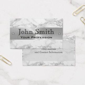 Marmorsilberne berufliche Geschäfts-Stahlkarte Visitenkarte