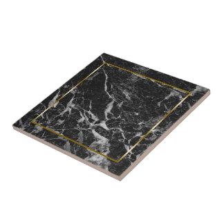 Marmorstein des schwarzen und grauen Imitats Fliese