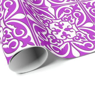 Marokkanische Fliese - violettes Lila und weiß Geschenkpapier