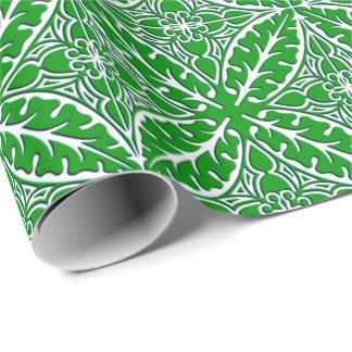 Marokkanische Fliesen - Smaragdgrün und Weiß Geschenkpapier