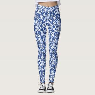 Marokkanischer blauer und weißer moderner Casbah Leggings