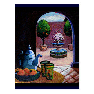 Marokkanischer tadelloser Tee Postkarte