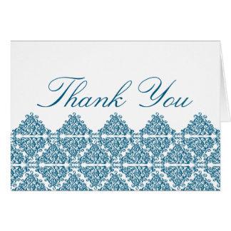 Marokkanisches Blau dankt Ihnen zu kardieren Grußkarte