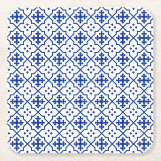 Marokkanisches Blau Rechteckiger Pappuntersetzer