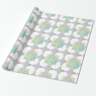 Marokkanisches Mandala-Muster-Regenbogen-Aquarell Geschenkpapier