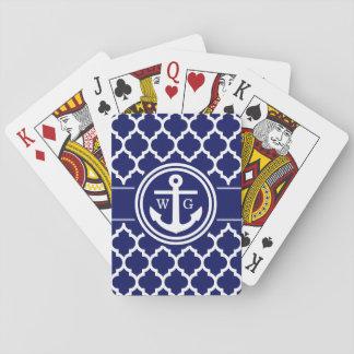 Marokkanisches Marine-Blau des Anker-Q Spielkarten