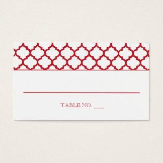 Marokkanisches Muster, das Placecards Wedding ist Visitenkarte