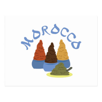 Marokko-Gewürze Postkarten