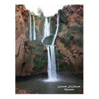 Marokko-Kaskade D'Ouzoud Postkarte