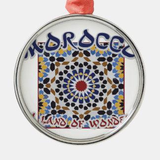 Marokko-Land des Wunders Rundes Silberfarbenes Ornament