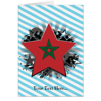 Marokko-Stern Grußkarte