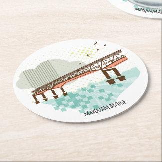 Marquam Brücken-Portland-Untersetzer Runder Pappuntersetzer